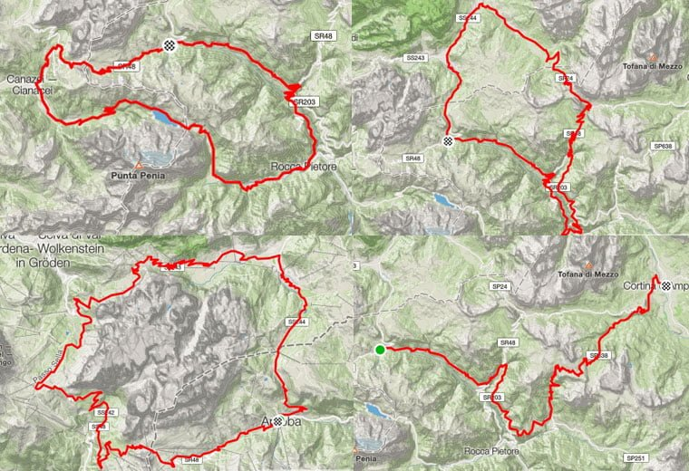 cycling-dolomites-map