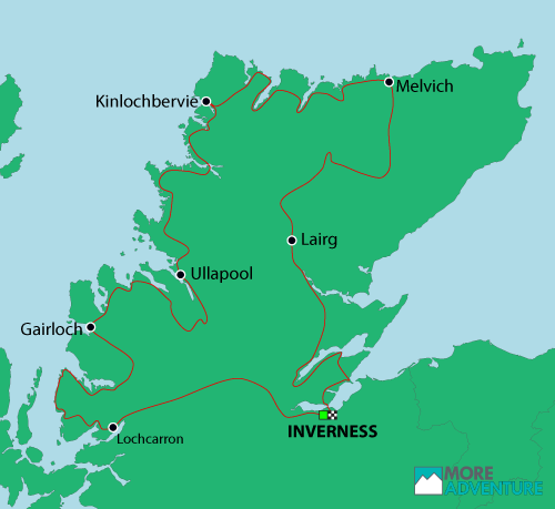 Cycling the North Coast 500 map